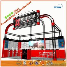 Red fascinating stands exhibition kit exported factory in Shanghai