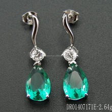 High Quality Green Spinel Drop Earring Green Stone Jewelry Wholesale DR01407171E