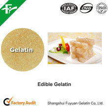 High Bloom and Viscosity Edible Gelatin Applied in Food Industry
