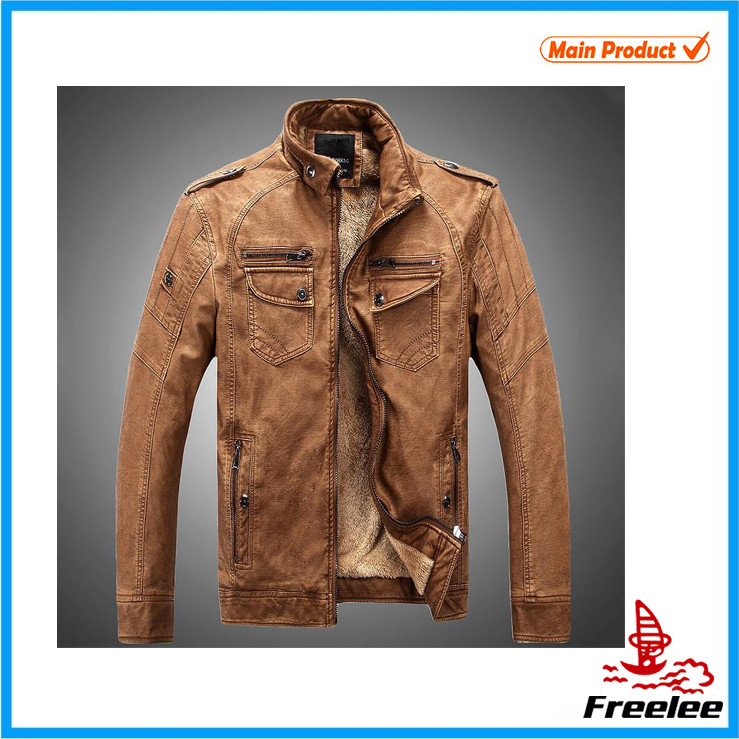 Latest design importer pure leather jacket