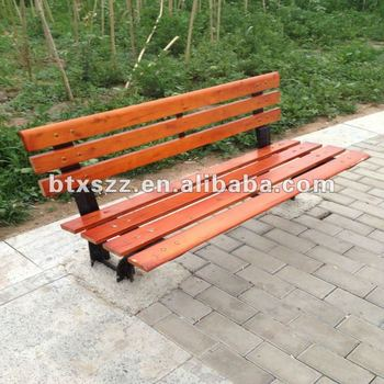 comfortable park ductile iron wood bench for rest