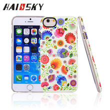 Factory Competitive Price Wholesale IMD Flower Design Cell Phone Case For iPhone 6/6 plus