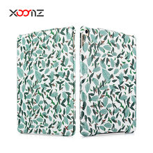 XOOMZ Popular Leaf Design PU Leather Folio Case for iPad pro 10.5 inch