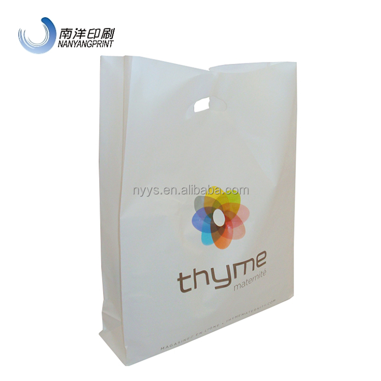 Band New Custom Logo LDPE Plastic Souvenir Tote Bag With Die Cut