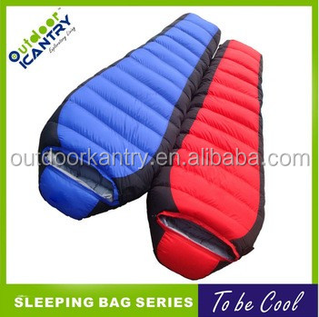 sleeping bag for lover 2 man joining together sleeping bags KS1015 nylon down sleeping bag fanctory oem
