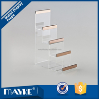 Unique Desktop Acrylic Wallet display stand, 4-tiers wallet display, Acrylic display stand for wallet