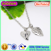 Wholesale 2015 Metal Chain Leaf Charm Pendant Neckalce Jewelry Customized #16892