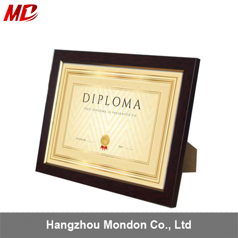 Mahogany Edge Document/Certificate /pictures Frames with Elegant Mat,