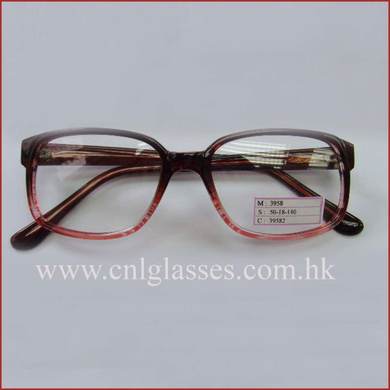 big round frame injection plastic quality designer visual glasses