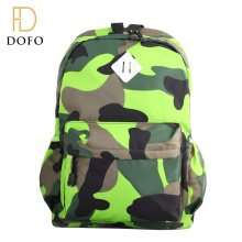 Hot style custom african print fashion leisure green army day backpack