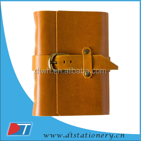 classical PU leather cover notebook/leather cover pocket notebook/classic retro vintage leather bound notepad