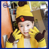 Yhao High Quality Warm Kids Boys Girls Colorful Stripe Hat/Scarf/Glove Set