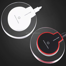 2018 new QI fast wireless charger for iPhone x and Samsung Crystal LED wireless car charger