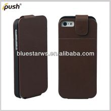 High Quality PU Leather Wallet Flip Stand Cover case cell phone for iphone 5