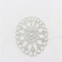 2014 new wholesale crystal handmade appliqued dress,rhinestone appliques patterns for wedding,bridal sash applique rhinestone