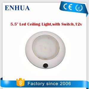 5.5 inch Marine Led Ceiling Light, with Switch, 12v