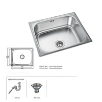 Domo Commercial Stainless Steel Kitchen Sink Restaurant Used Kitchen Sink Wash Sink For Sale DM-18320