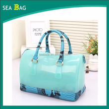 Ladies Fashion Snake PU with Light Green Jelly Candy Bag