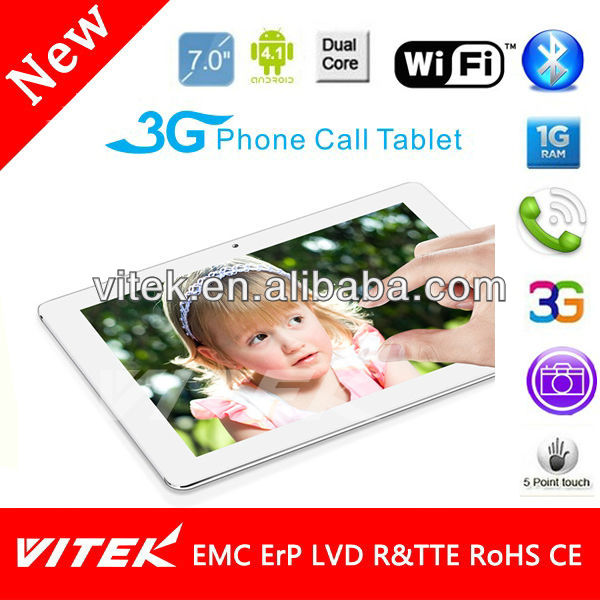 "New 7"" Dual Core city call Camera Tablet pc distributor"