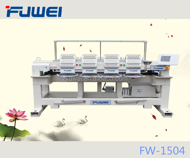 FUWEI 2017 4 heads 15 needles High speed cap embroidery machine price