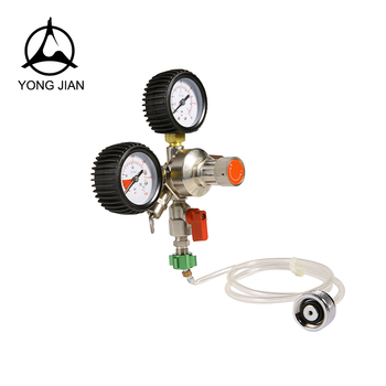 Two way out Economy CO2 regulator, CO2 gas regulator,beer recuding valve,
