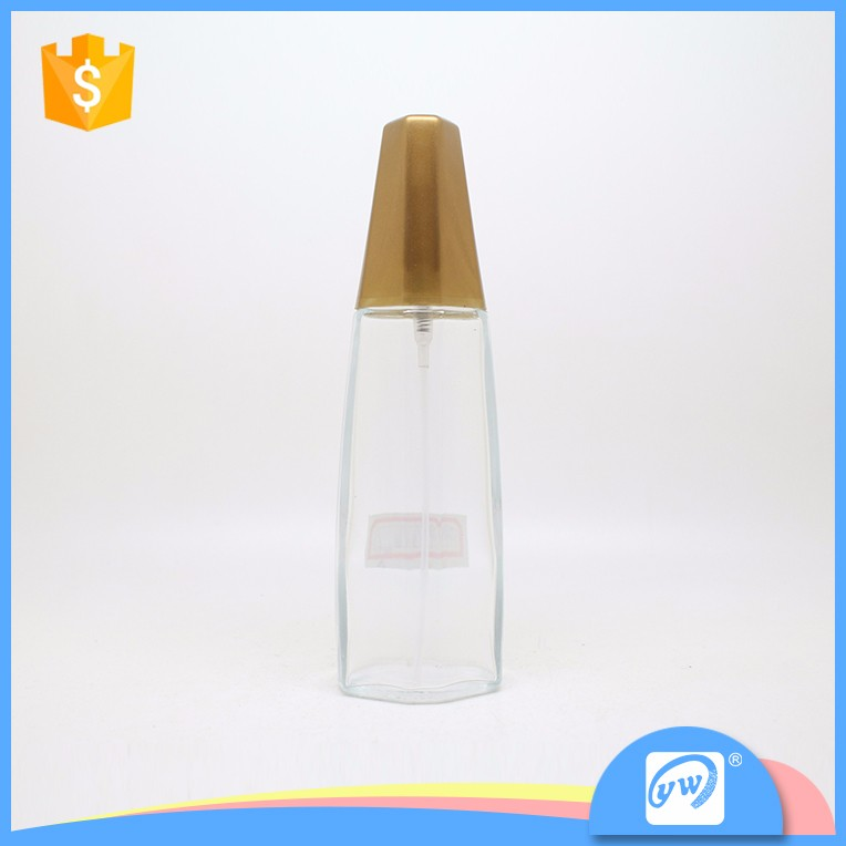 A2718-50ml ISO certificated spray luxurious rose gold perfume bottle