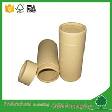 kraft cylinder customized printing recyclable paper tube/gift round box