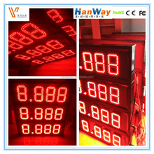 outdoor waterproof 7 segment led digital display led price board for petrol station display