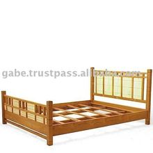 Bed Combination Teak Wood and Bamboo