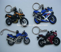 personalized motorcycle 3D design soft pvc keychain