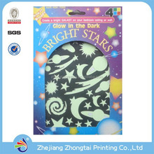 Custom luminous paper sticker, glow in the dark paper sticker
