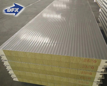 Qingdao Low Cost Color Steel Sound Proofing Rock Wool Acoustic Wall Panel, Mineral Wool Sandwich Panel