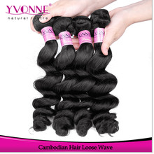 Yvonne hot sale virgin remy hair product cambodian hair loose wave