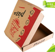 2014 hot sell custom high quality brown kraft paper box for pizza