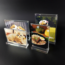 Wholesale Office Table Card Display Portrait Style Menu Ad Frame Top Insert Clear Acrylic photo frame