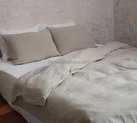 extra wide width natural linen fabric for bed sheet
