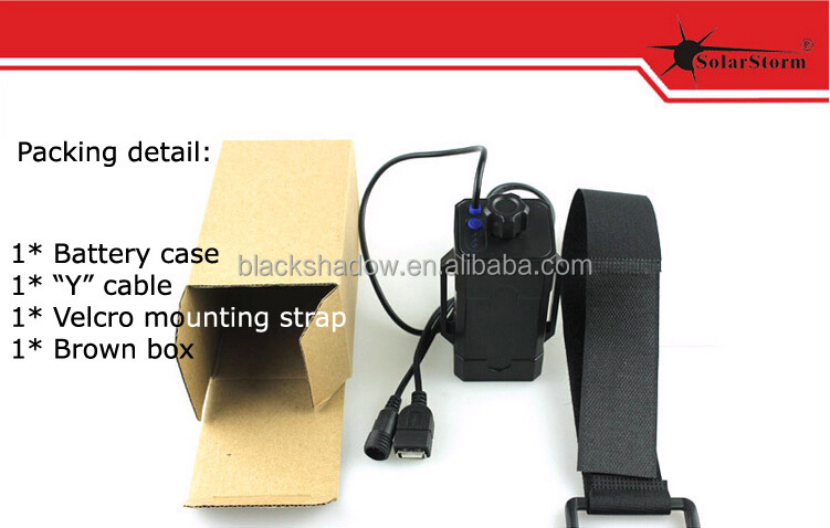 Solarstorm BC-2 4*18650 removable plastic battery pack for bicycle light