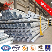 Galvanized concrete electric pole,new designed concrete electric pole