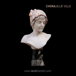 custom european style famous stone young lady wearing a headscarf bust sculpture BSZ-55