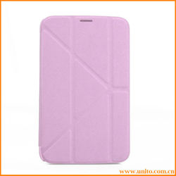Transformers Cross pattern leather case for samsung galaxy tab 3 p3200 p3210 t210 7.0