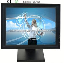 Black Bezel IR SAW Capacitive Resistive touch screen monitor 17 inch