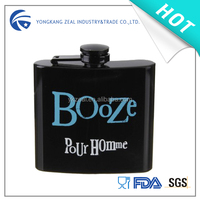 hot sale spray painting stainless steel vodka hip flask