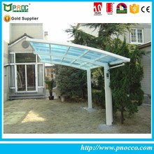 outdoor modern strong aluminium single large garage canopy carport