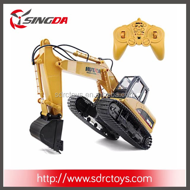 Hot Sale Toys 1550 15 Channel 2.4G 1/12 Electric RC Metal Excavator With 680-degree Rotation RC Car With Battery RTG