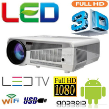 Leeman 4000 lumens real 3D pico DLP WIFI LED projector proyector,convert 2D to 3D,built in android 4.2 pico led 3d projector