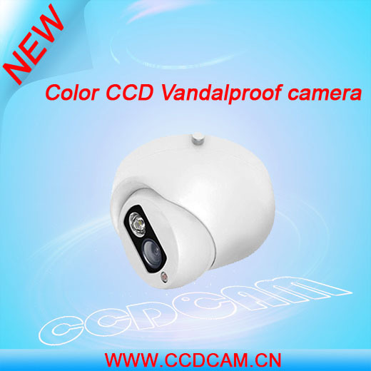Fashion design Low LUX cctv Color CCD ir vandal-proof dome camera PAL /NTSC array ir security cctv camera