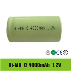 1.2V C NI-MH 4000mAh Rechargeable Battery