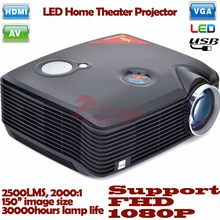 High Quality 800*600p Resolution Support 1080p LCD Projector with 20000hours Lamp Life LED Lamp 2500LM 2000:1 Contrast Ratio