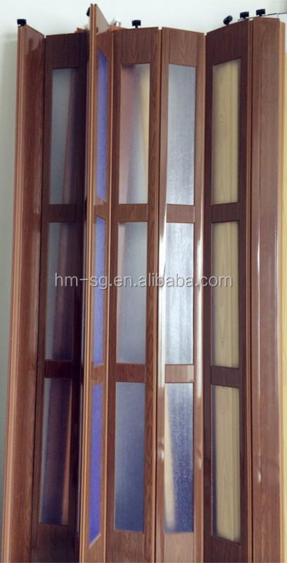Panel de pvc interior puerta plegable puerta corredera de - Puerta corredera plegable ...