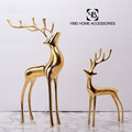 Table Center Piece handwork iron Gilded cooper deer